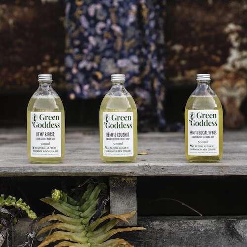Green Goddess hemp liquid castile soaps