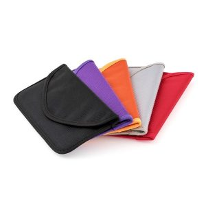 range of 4 different coloured blockit pockit purses