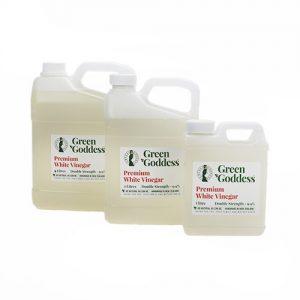 double strength white vinegar in three sizes