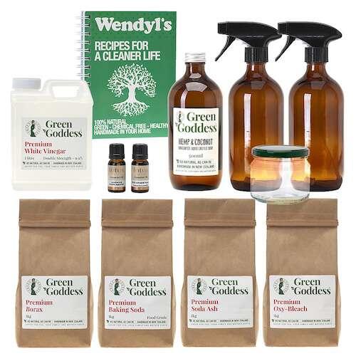 green goddess natural cleaning & laundry DIY kit