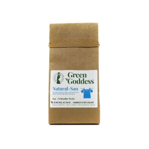 Natural San oxygen soaker and stain remover in home compostable bag