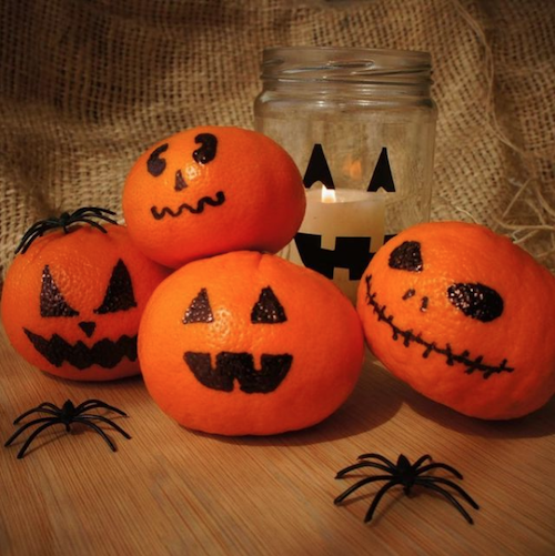low waste halloween oranges instead of pumpkins